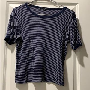 Brandy Melville top/ navy blue and white